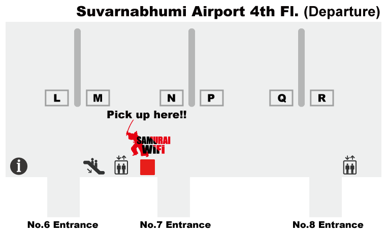 Airport booth map